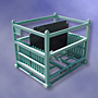 Collapsible shipping container with 4-way entry and built in Kanban holder